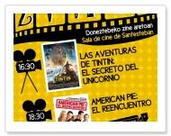Cartel cine en Santesteban